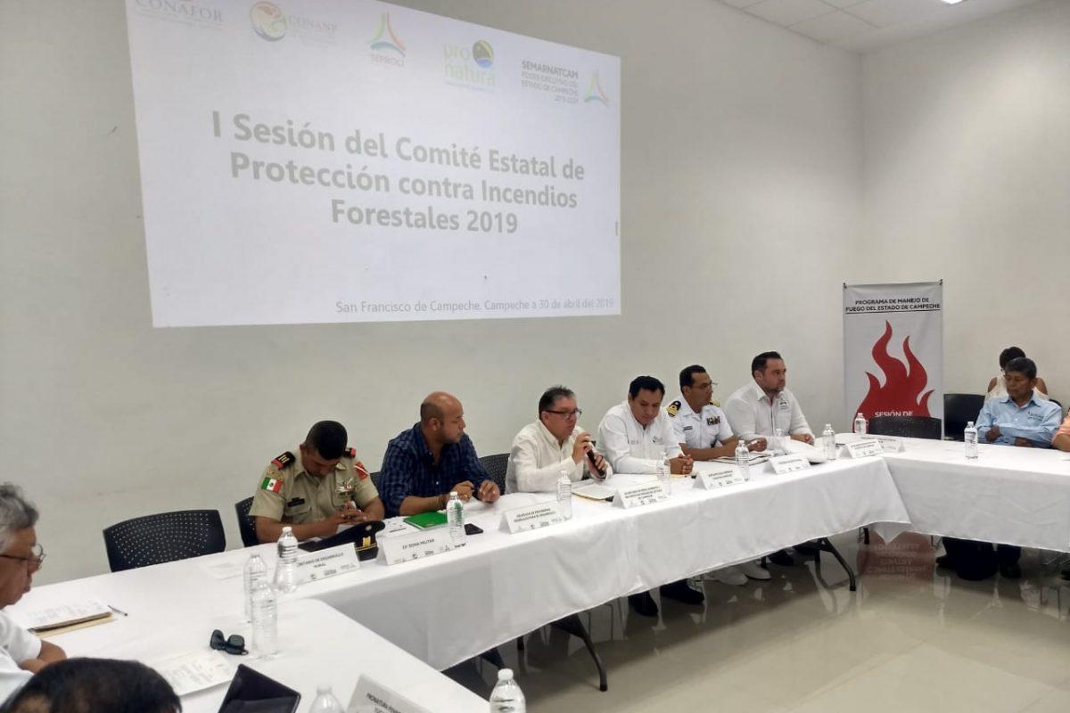 Sesiona por primera vez Comité Estatal de Protección contra Incendios Forestales