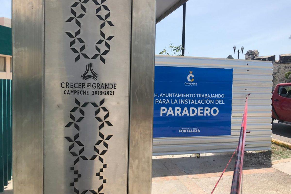 """Manda """"Alito"""" poner nuevamente parador en el IMSS a un costado del que instala el Ayuntamiento"""