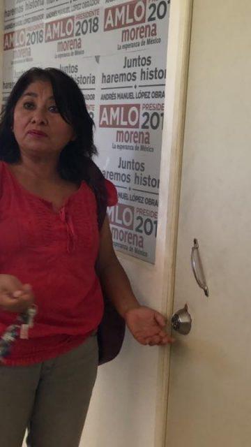 Dejan fuera de sus oficinas a consejeros de Morena Campeche
