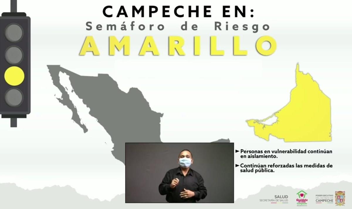 Campeche regresaría a Semáforo Amarillo