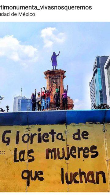 Glorieta de las mujeres que luchan: #NoNosBorran